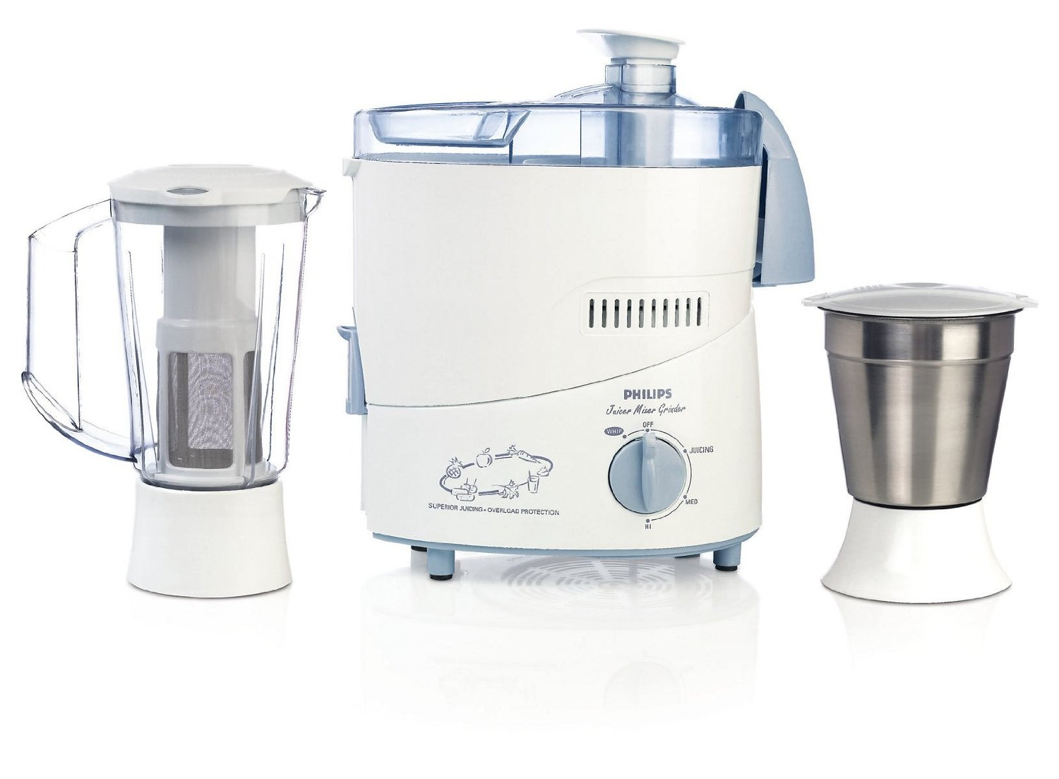 Philips HL1631 500-Watt 2 Jar Juicer Mixer Grinder